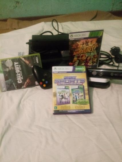 Vendo Um Xbox 360 Bloqueado Vai Com Três Jogos I Não Faça
