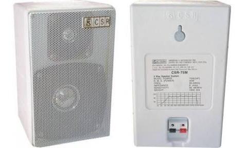 Caixa Acústica Ambiente Csr 75m 40w Rms