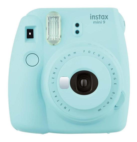 Câmera Fujifilm Instax Mini 9 Com Alim. Automática Azul Gelo
