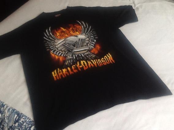 Harley Davidson Playera Para Caballero Talla L Estampada