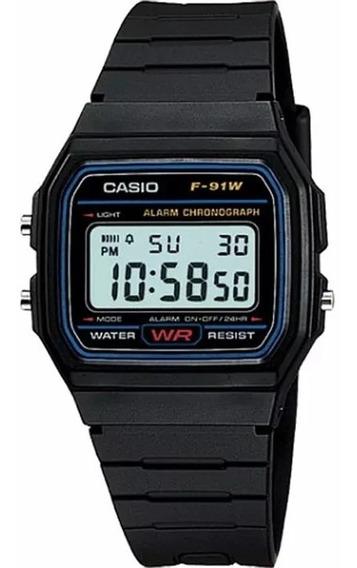 Relógio Casio F-91w-1dg Original Classico F91