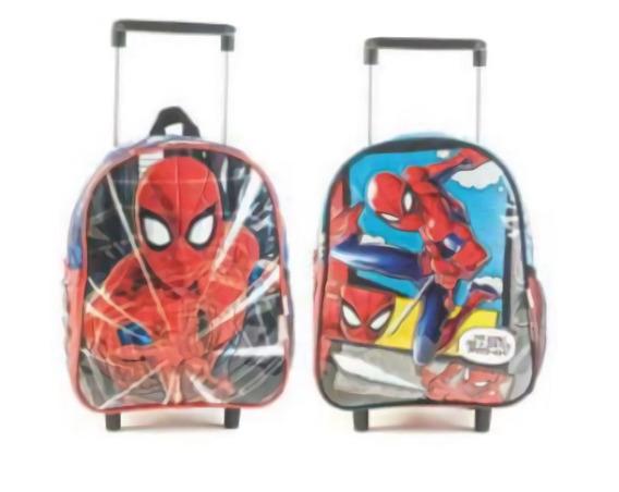 Mochila Carrito Spiderman 12p Mmk 62301