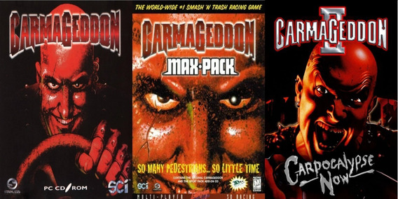 Carmageddon 1 + Max Pack + 2 Carpocalypse Now Pc Envio Email
