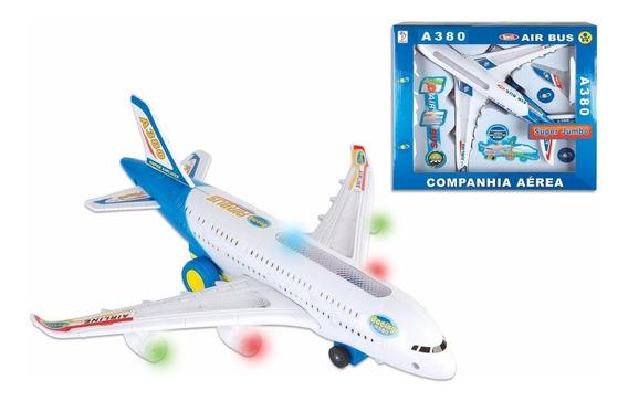 Brinquedo Avião Air Bus Jumbo Hj166 Fênix