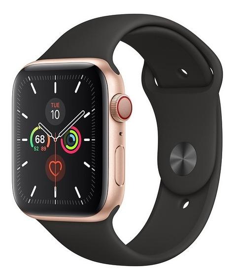 Apple Watch Série 5 Gold 44mm, Cel Ativo, Pronta Entrega