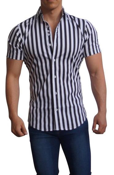 Camisas John Leopard Basic Shirt Manga Corta