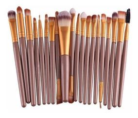 Kit 20 Pinceis Maquiagem Profissional Pincel Makeup Promoção