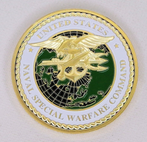 Imagen 1 de 7 de Moneda Militar, United States, Naval Special Warfare Command