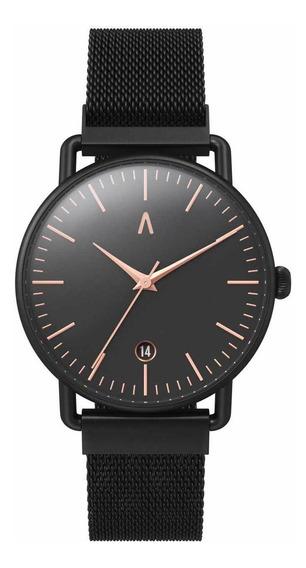 Reloj Pulsera Unisex Negro Elegante Caja Abaco