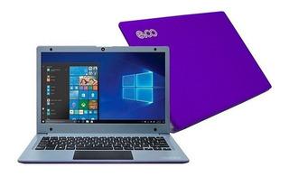 Notebook Evoo Ultra Thin 4gb 32gb 11.6 Win10 Webcam Purpura