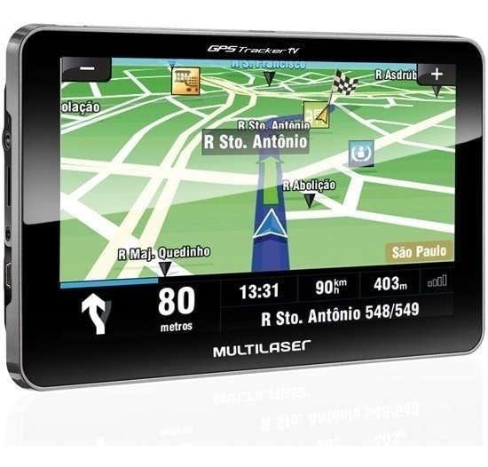 Gps Multilaser Tracker Iii Tela 7.0 Tv Transmissor Fm Gp038