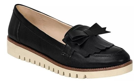 Zapato Escolar Cerrado Caramel Mujer Negro Tipo Napa 607