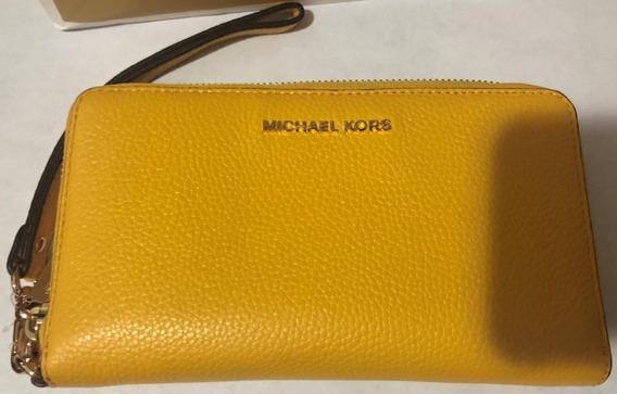 Cartera Piel Michael Kors Mujer Amarilla Original/nueva