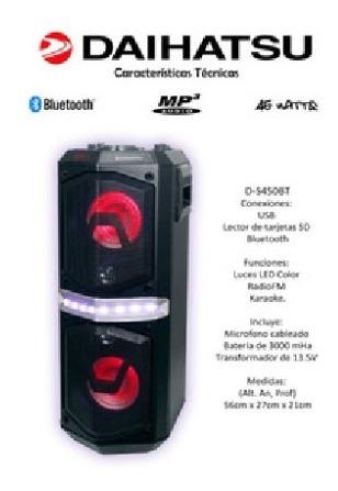 Parlante Portatil Bluetooth Daihatsu D-s450