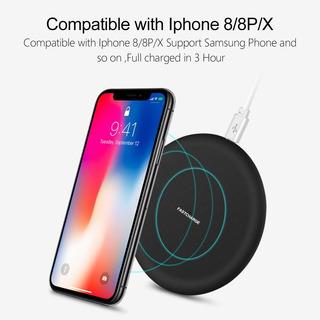 Carregador Qi Sem Fio Note LG iPhone X Xs Samsung S 7,8,9