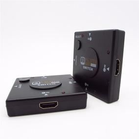Hub Switch Hdmi 3 Portas Playstation Xbox Dvd Tv Lcd Led