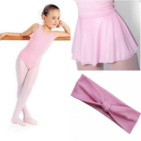 5687e346e Kit Ballet Infantil Collant   Saia Ajustável   Faixa