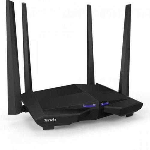 Imagem 1 de 4 de Roteador Gigabit Dual Wifi 1200mbps Ac10 Preto Tenda