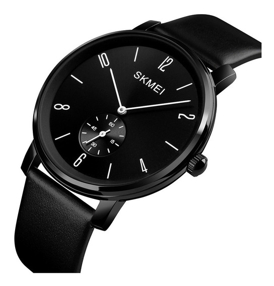 Skmei 1398 Reloj Hombre Clásico Elegante Cuero + Estuche