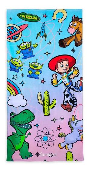 Disney Store Toalla De Playa Toy Story Beach 74cm X 1.70 Mts
