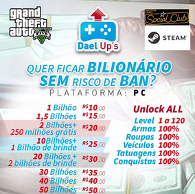 Upgrade Gta V Online Pc - 10 Bilhões + 1 Bilhão De Brinde.