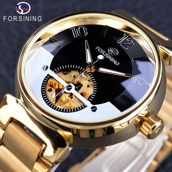 Relógio Masculino Forsining Esqueleto Criativo Automático. .