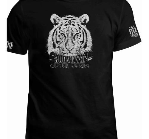 Camiseta Estampada Tigre Hombre Unisex Animal Inp Eco