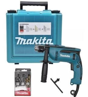 Furadeira Paraf Impacto Makita Hp1640kx1 760w + Maleta 9broc