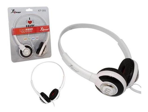 Fone De Ouvido Headphone Kp 393 Branco