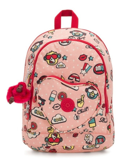 Mochila Mini Kipling Heart Backpack Rosa