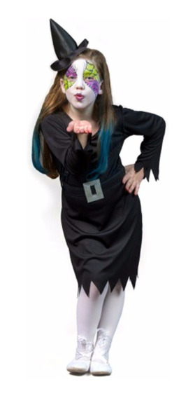 Disfraz Halloween Bruja Hechicera Maquillaje Sulamericana