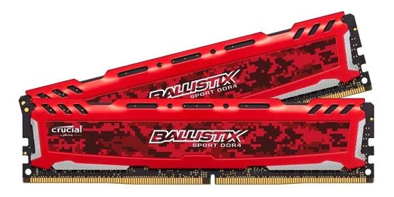 Memoria Ram Ballistix Crucial Sport Ddr4 8gb 2400mhz Red