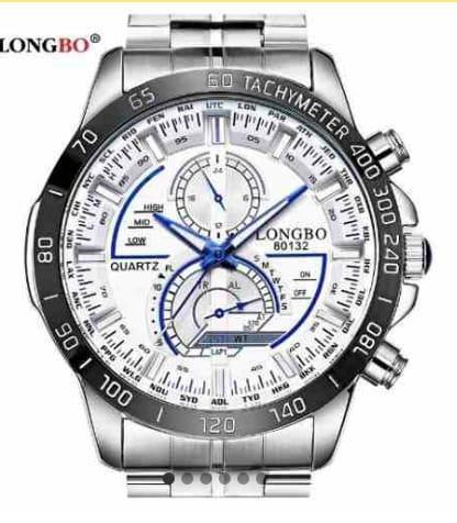 Relógio Masculino Longbo Quartzo Em Aço 316l Inoxidável
