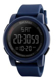 Reloj Cronometro Hombre Deportivo Led Alarma Skmei 1257