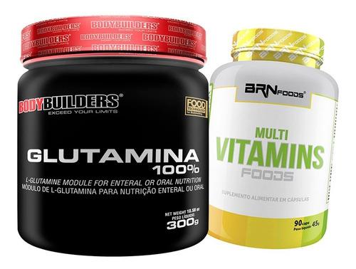 Kit Imunidade Multivitamínico + Glutamina - Entrega Imediata