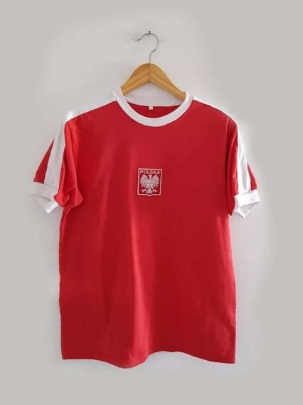 Camiseta Polonia Retro Algodon Lato