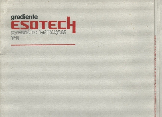 Manual Em Pdf Gradiente Esotech T Ii Tuner