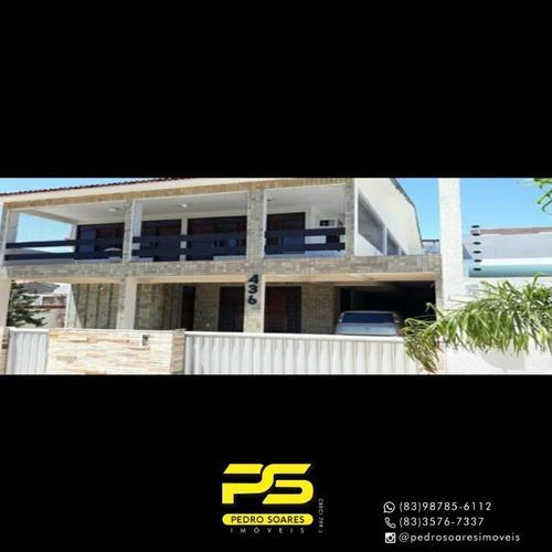Casa Com 6 Dormitórios Para Alugar, 360 M² Por R$ 16.000/mês - Camboinha - Cabedelo/pb - Ca0811