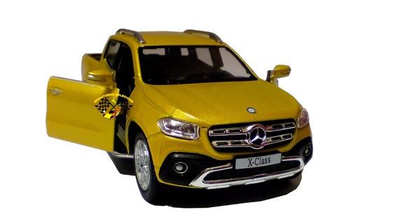 Miniatura Mercedes-benz X-class Pickup Amarela 1:42 Kinsmart