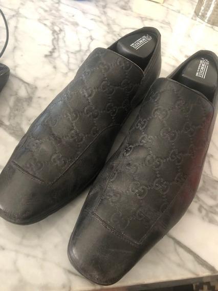 Zapatos Piel Gucci Oricinales Negros Poco Uso