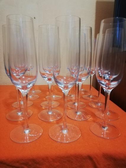 Lote 17 Copas Champagne Cristal Líquidacion