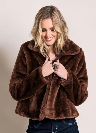 Casaco De Pelos Fur Coat Marrom
