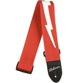 Correia Gibson Lightning Bolt Nylon Vermelha Asgsbl20