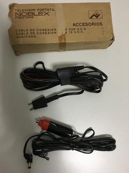 Cables Para Televisor Portatil Noblex Micro 14 En Caja.