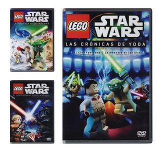 Lego Star Wars Paquete De 3 Peliculas Animadas En Dvd