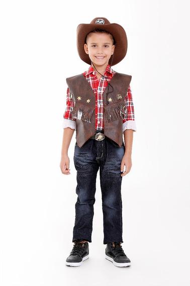 Colete Cowboy Country Infantil Menino Ou Menina Roupa Junina