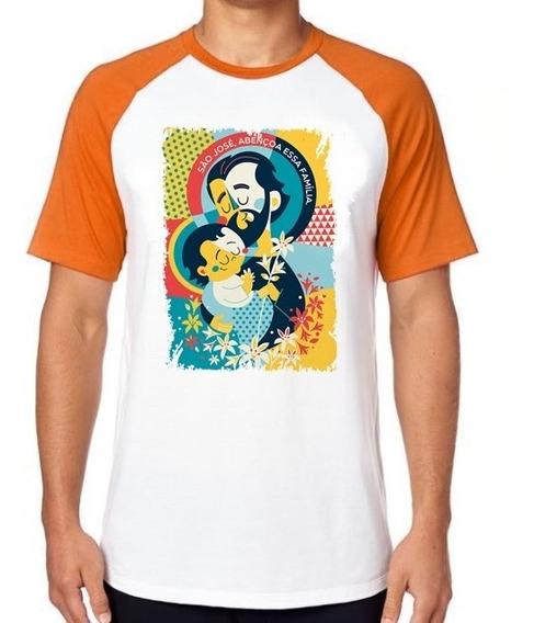 Camiseta Luxo São José Santo Igreja Católica Religião Jesus