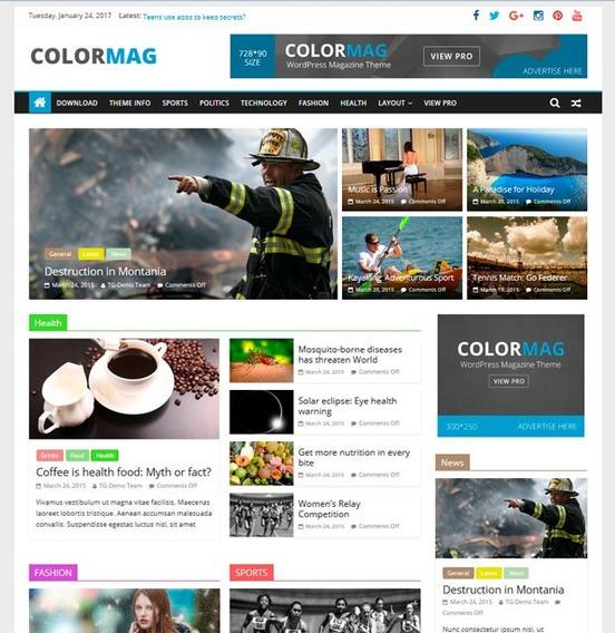 Tema Colormag Wordpress Portal De Notícias -ativado