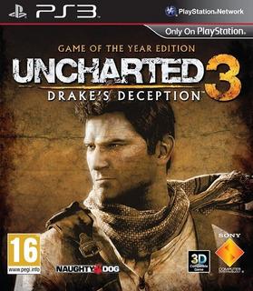 Uncharted 3 Goty La Traición De Drake Juego Del Año Ps3