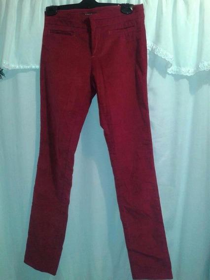 Pantalon Giesso Mujer Rojo Talle 2 Algodon Spandex . Ver Det